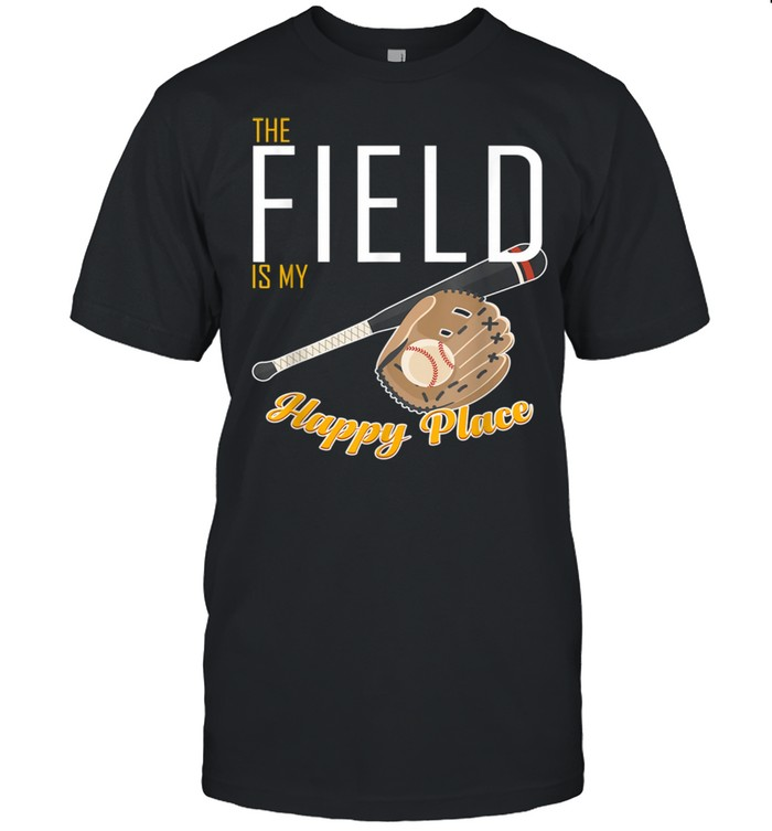 Field Is My Place T Ball Bat Glove Baseball Player shirt Classic Men's T-shirt