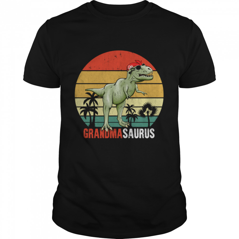 Grandmasaurus T Rex Dinosaur Grandma Saurus Family Matching shirt Classic Men's T-shirt