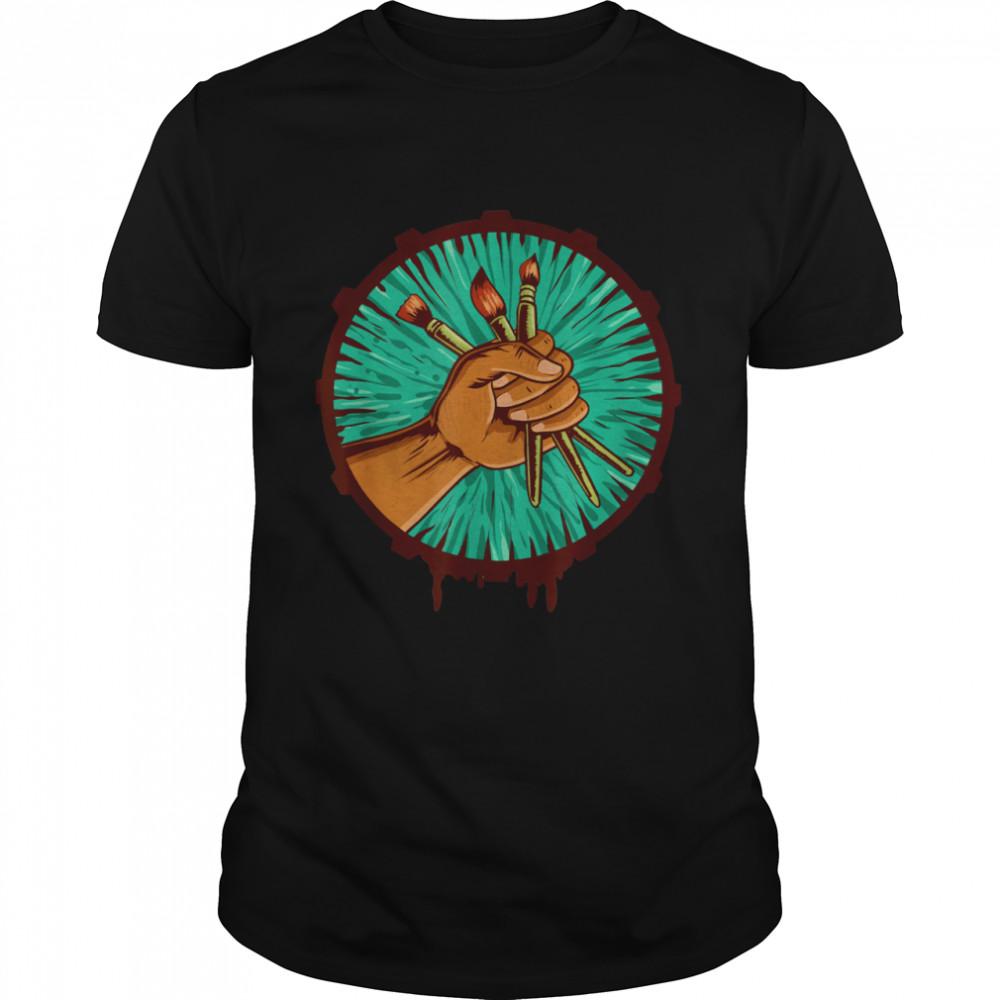 Maler Künstler Pinsel  Classic Men's T-shirt