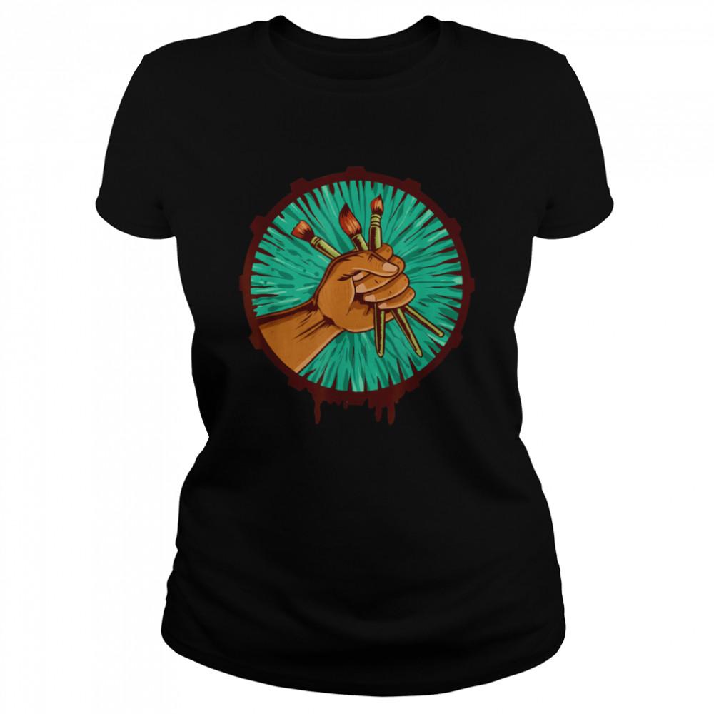 Maler Künstler Pinsel  Classic Women's T-shirt