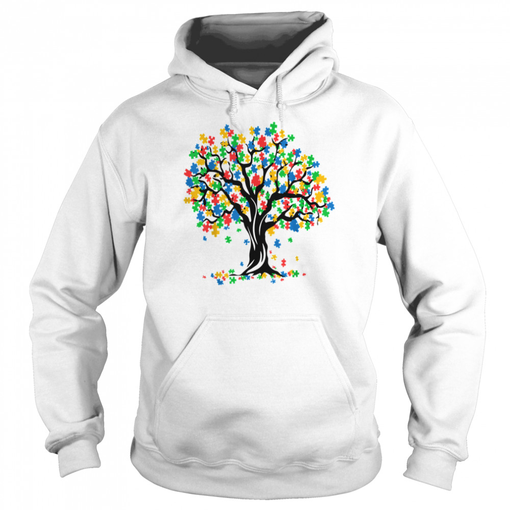 Tree Of Life Autism Awareness Month ASD Supporter Unisex Hoodie
