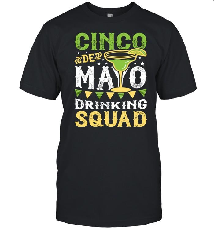 Cinco de Mayo Drinking Squad Margarita Tequila  Classic Men's T-shirt
