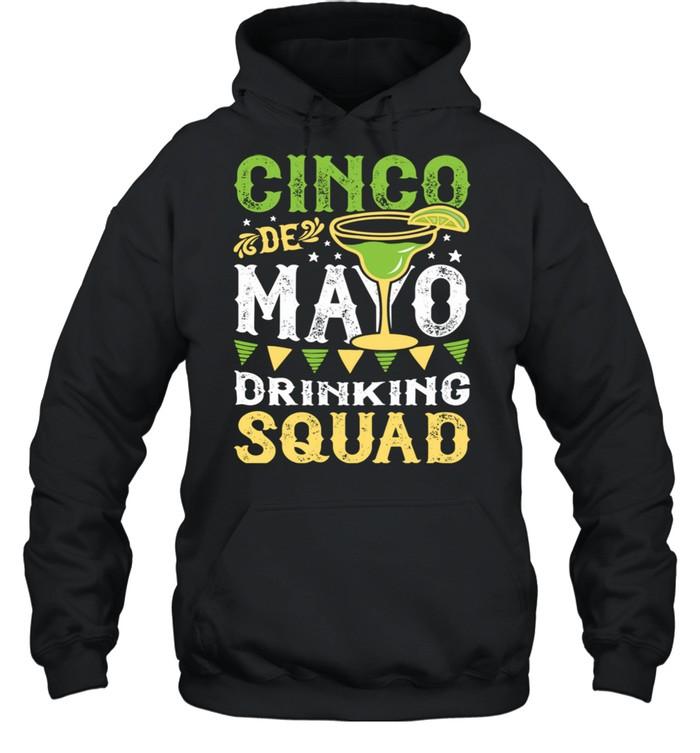 Cinco de Mayo Drinking Squad Margarita Tequila  Unisex Hoodie