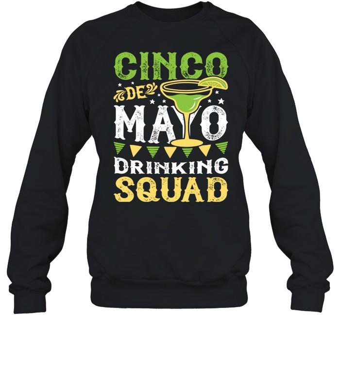 Cinco de Mayo Drinking Squad Margarita Tequila  Unisex Sweatshirt