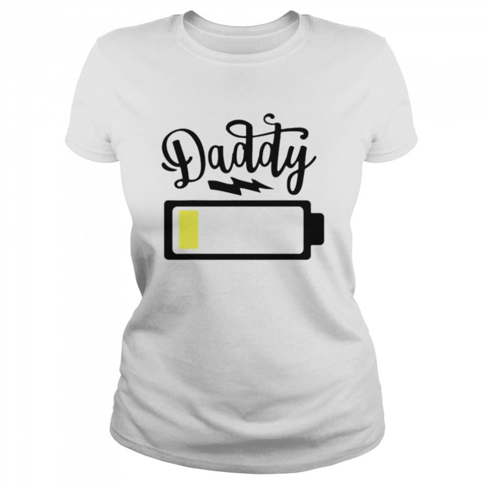 Daddy 2021 low battery shirt Classic Women's T-shirt