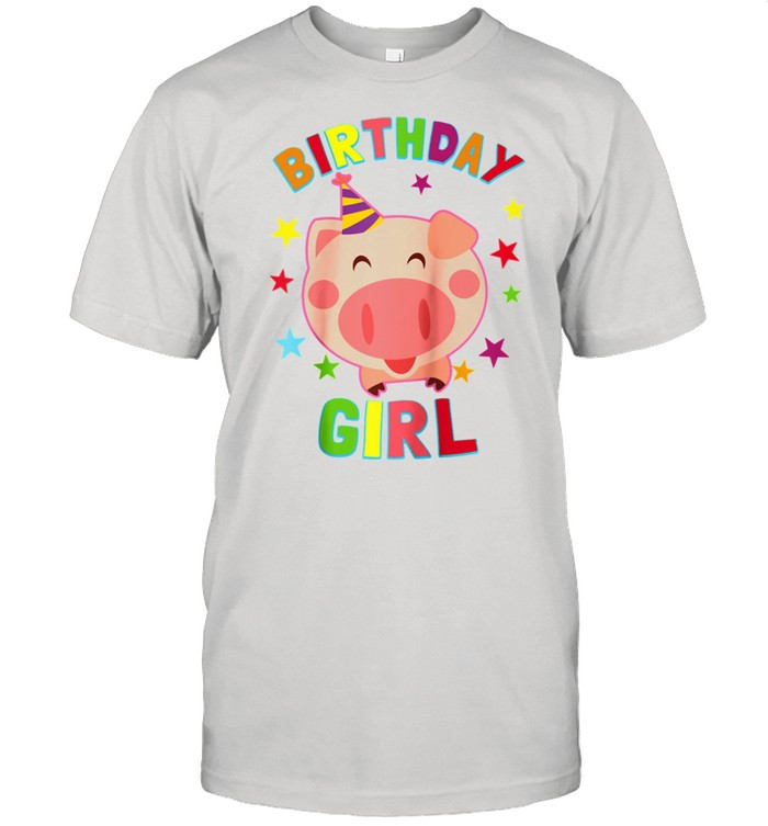 Girl Birthday Pig Bday Party For Girls  Classic Men's T-shirt