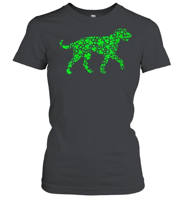 Shamrock Leaf Irish Wolfhound Dog St. Patrick's Day  Classic Women's T-shirt