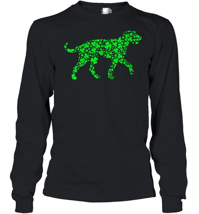 Shamrock Leaf Irish Wolfhound Dog St. Patrick's Day  Long Sleeved T-shirt
