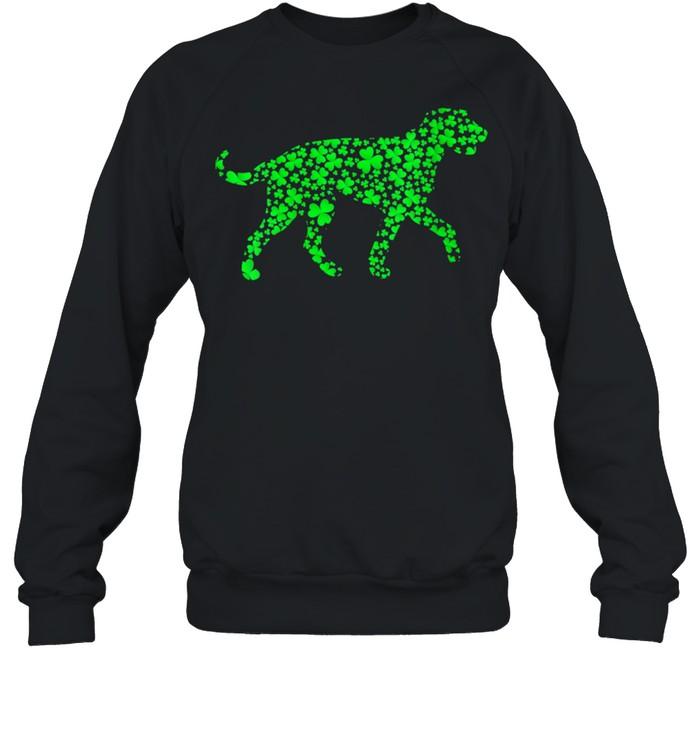Shamrock Leaf Irish Wolfhound Dog St. Patrick's Day  Unisex Sweatshirt