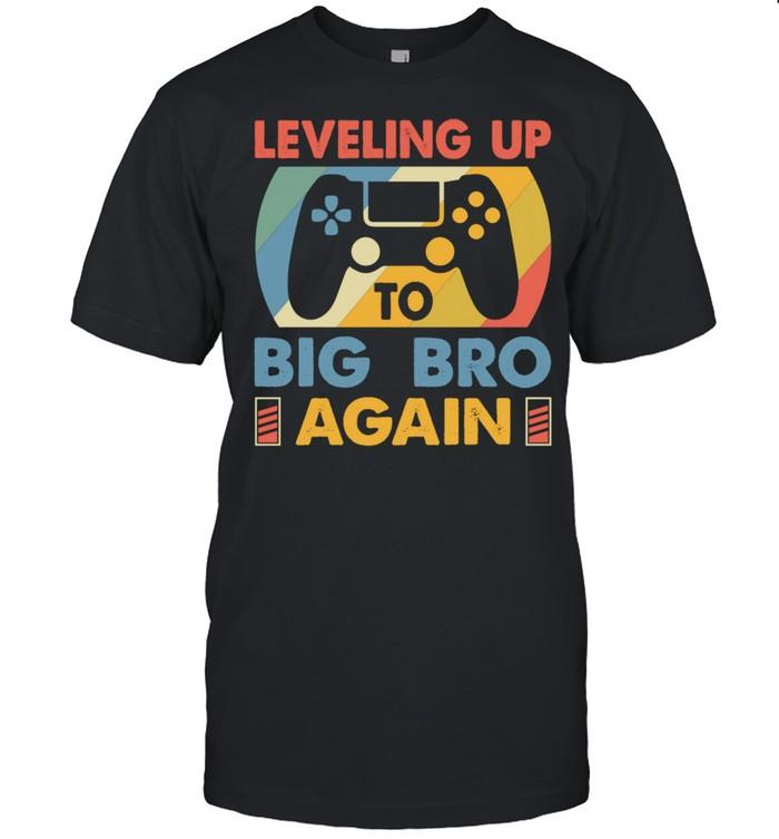Big Bro Again Leveling Up To Big Bro Again Vintage Gamer  Classic Men's T-shirt
