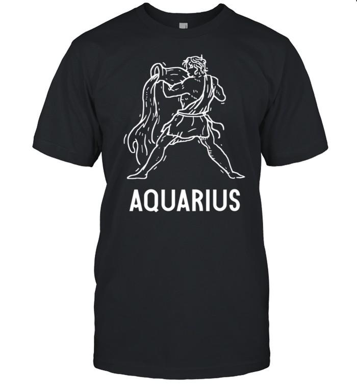 Classic Aquarius Astrology Birthday Zodiac Signs shirt Classic Men's T-shirt