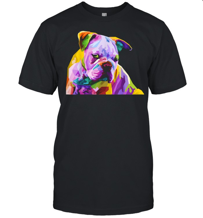 English British Bulldog Pop Art for Dog Owners  Classic Men's T-shirt