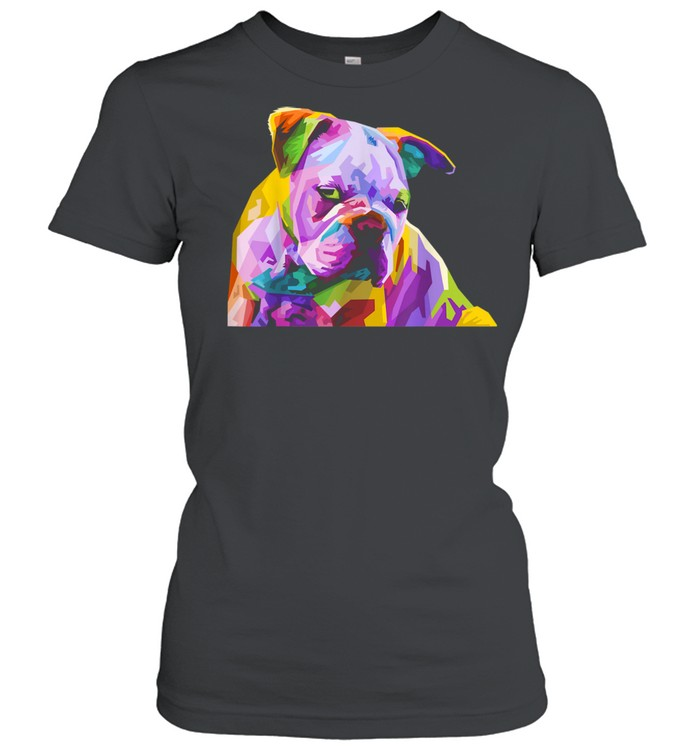 English British Bulldog Pop Art for Dog Owners  Classic Women's T-shirt