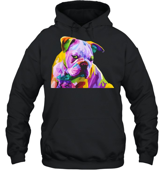 English British Bulldog Pop Art for Dog Owners  Unisex Hoodie
