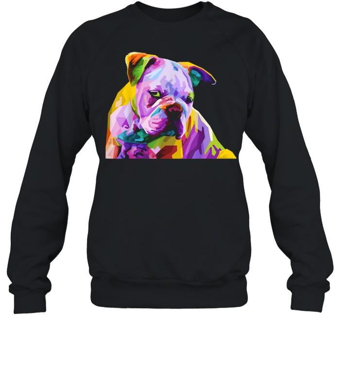 English British Bulldog Pop Art for Dog Owners  Unisex Sweatshirt