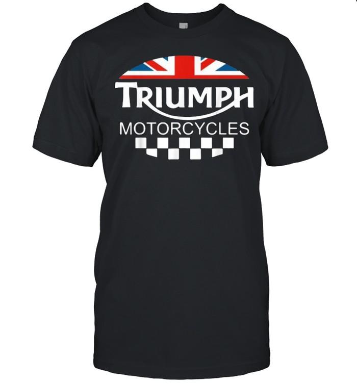 Motorcycle Triumph Biker Uk United Kingdom Flag  Classic Men's T-shirt