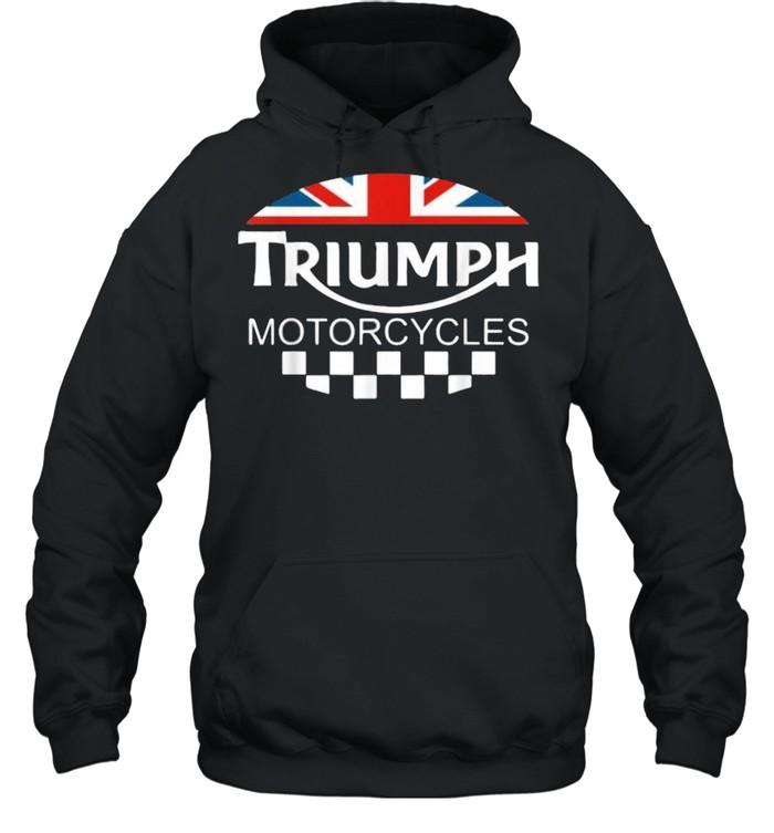 Motorcycle Triumph Biker Uk United Kingdom Flag  Unisex Hoodie
