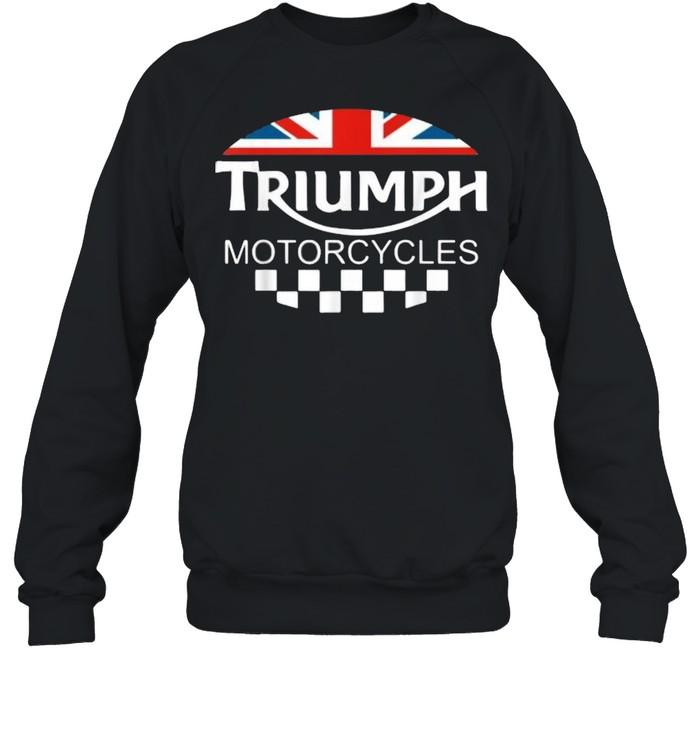 Motorcycle Triumph Biker Uk United Kingdom Flag  Unisex Sweatshirt