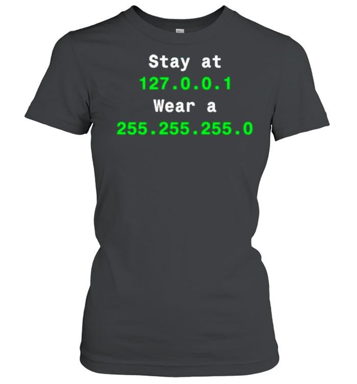 Stay at 127.0.1 wear a 255.255.255.0 shirt Classic Women's T-shirt