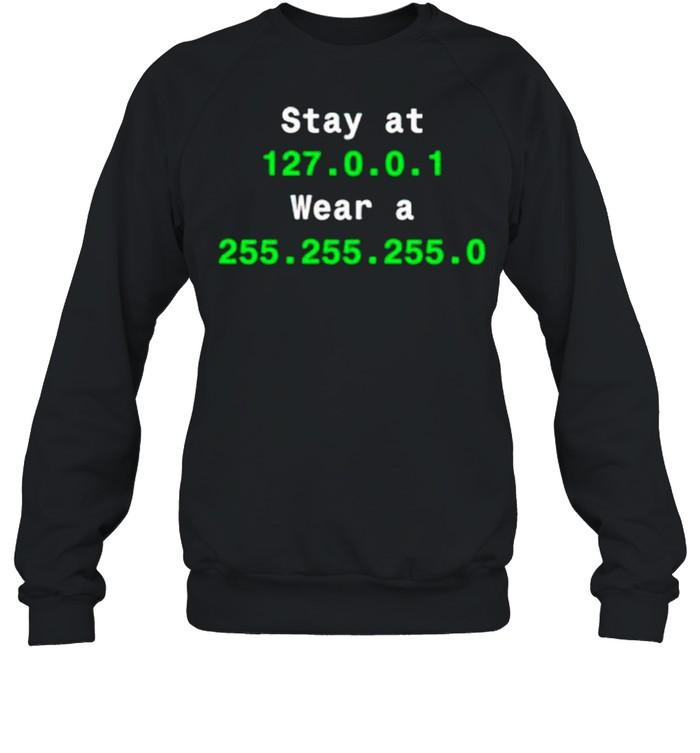 Stay at 127.0.1 wear a 255.255.255.0 shirt Unisex Sweatshirt