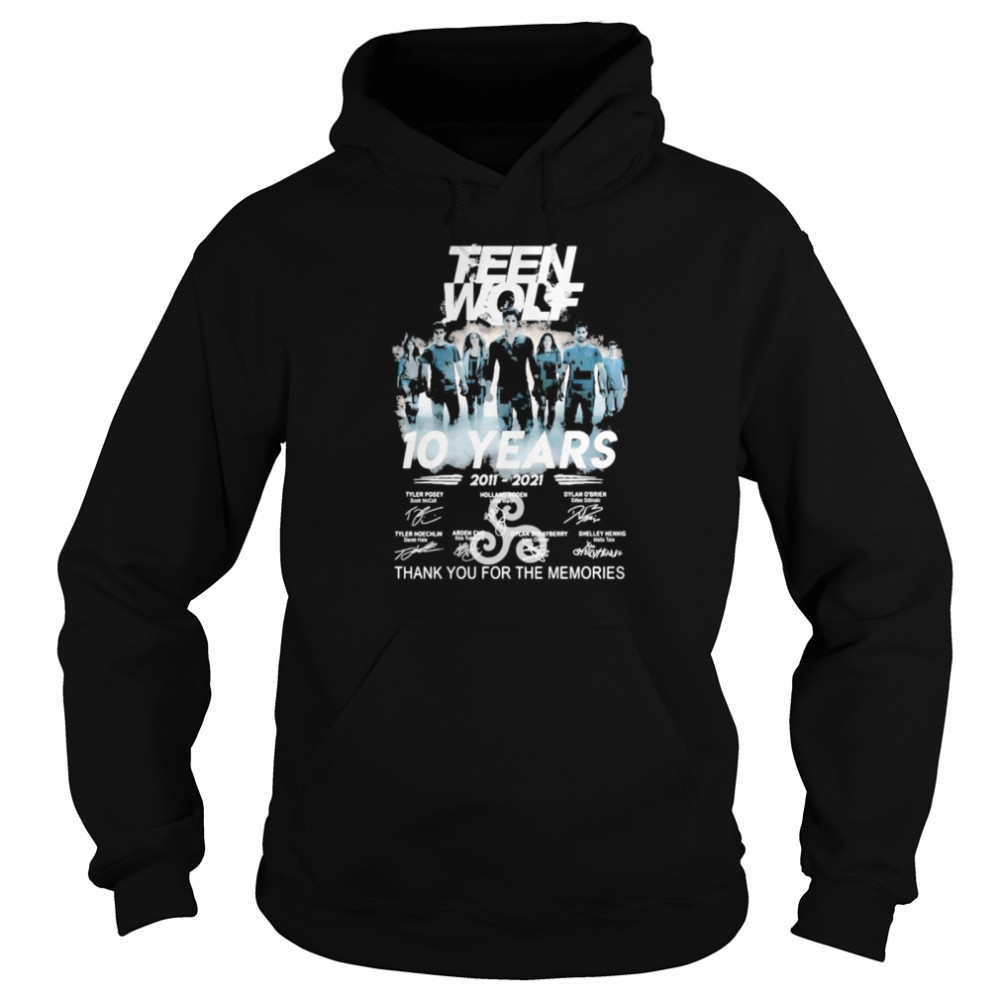 Teen Wolf 10 Years 2011 2021 Thank You For The Memories Signature  Unisex Hoodie