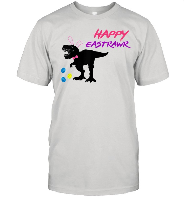 Happy Eastrawr T Rex Dinosaur Easter Bunny Egg Costume  Classic Men's T-shirt