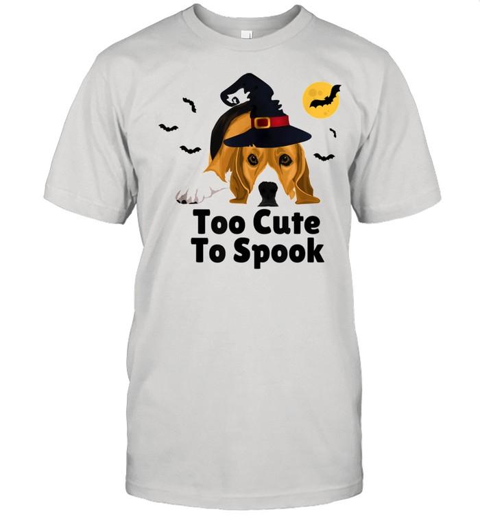 Cute Spooky Scary Halloween Beagle Puppy Dog shirt Classic Men's T-shirt