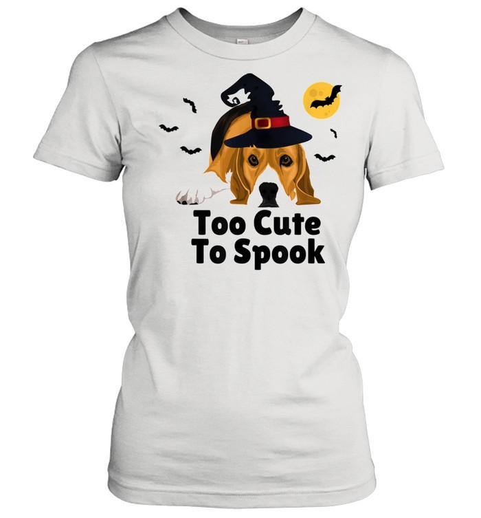 Cute Spooky Scary Halloween Beagle Puppy Dog shirt Classic Women's T-shirt