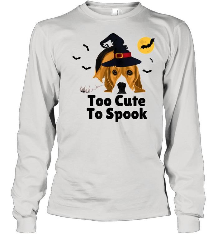 Cute Spooky Scary Halloween Beagle Puppy Dog shirt Long Sleeved T-shirt