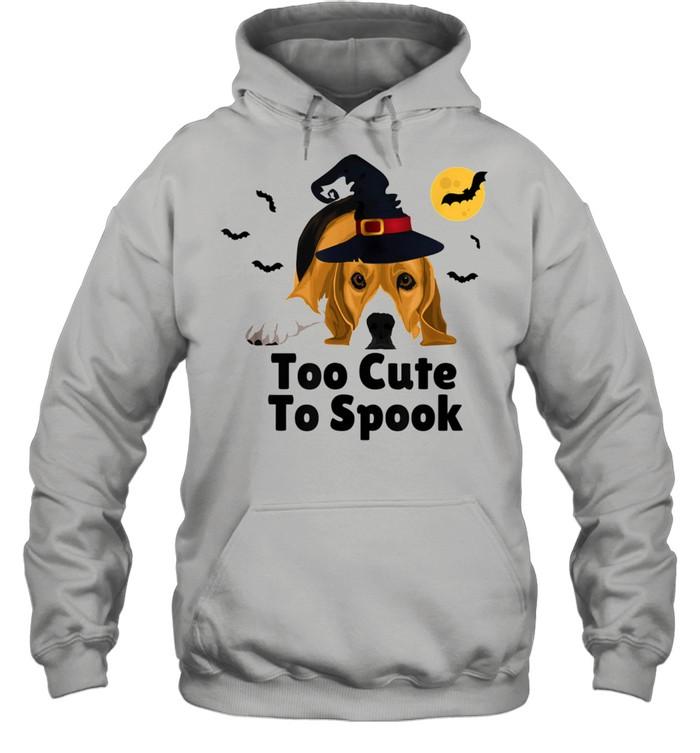 Cute Spooky Scary Halloween Beagle Puppy Dog shirt Unisex Hoodie