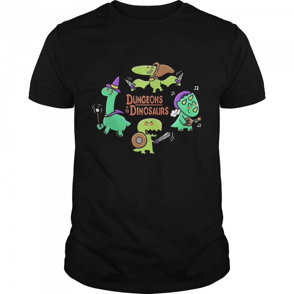 Dungeons and dinosaurs shirt Classic Men's T-shirt