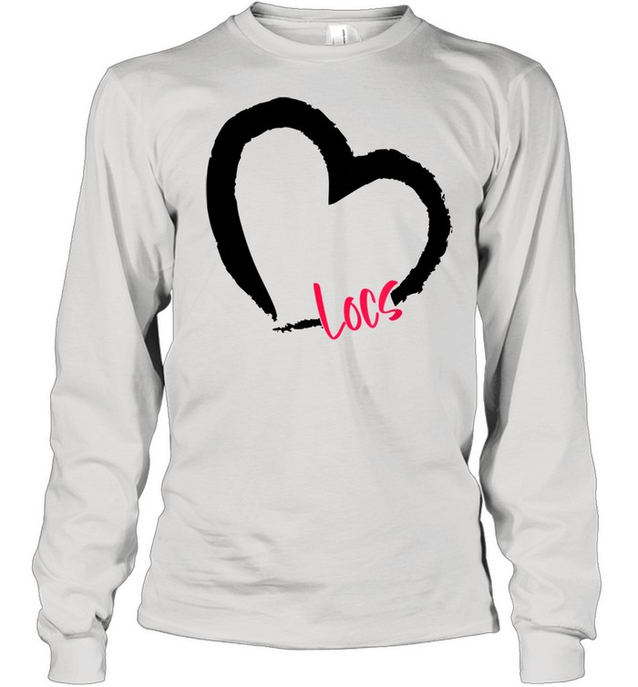 GGT Self Love Heart Natural Hair Locs Goddess Melanin  Long Sleeved T-shirt