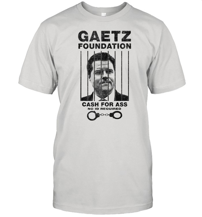 Matt Gaetz Foundation No ID Required Prison or Jail Parody  Classic Men's T-shirt