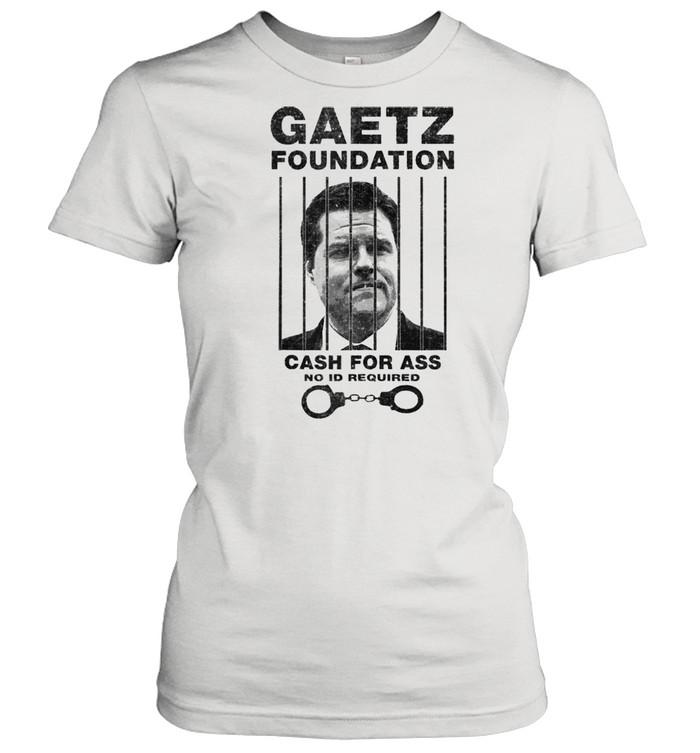 Matt Gaetz Foundation No ID Required Prison or Jail Parody  Classic Women's T-shirt