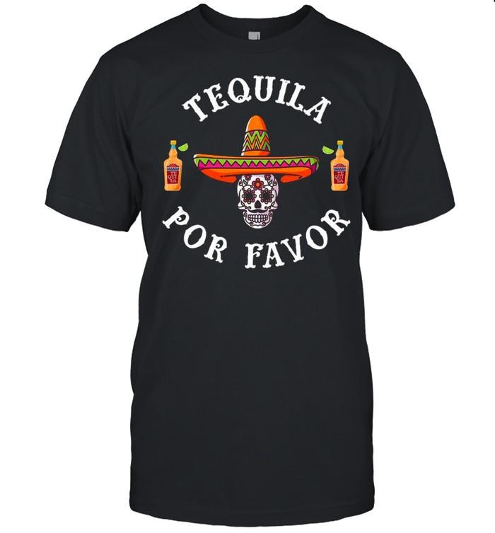 Sombrero Fiesta Skull Tequila Por Favor Cinco De Mayo  Classic Men's T-shirt