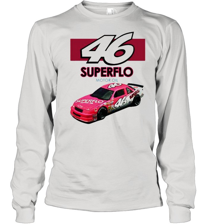 46 Superflo Motor Oil Car Pink  Long Sleeved T-shirt
