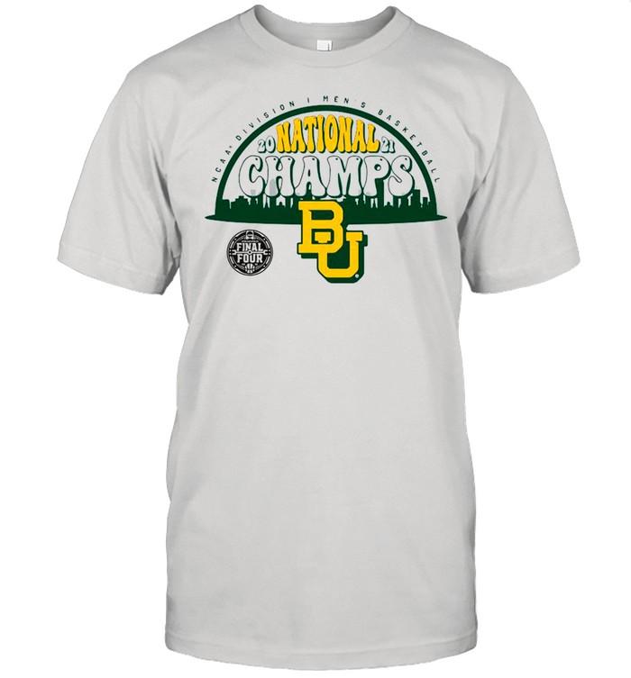 Baylor Bears Fanatics Branded 2021 NCAA Men's Basketball National Champions Screen Space Dye shirt Classic Men's T-shirt