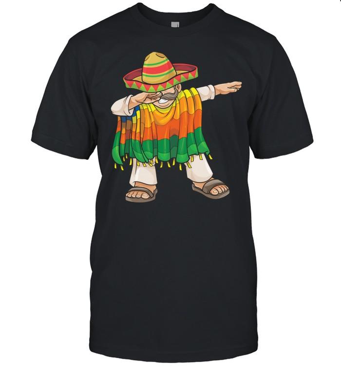 Dabbing Mexican Poncho Cinco de Mayo Sombrero Dab  Classic Men's T-shirt