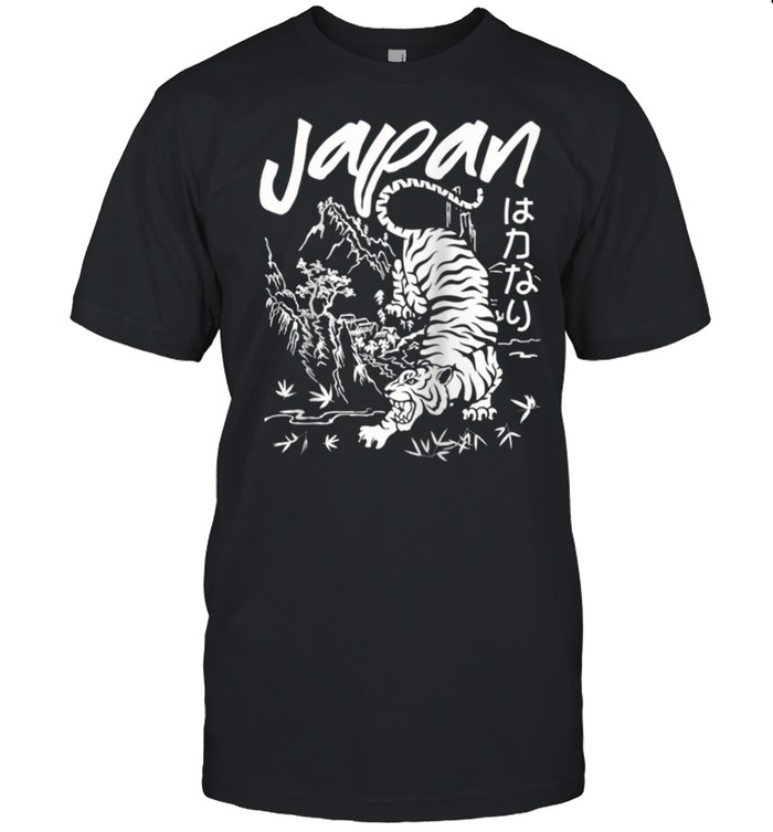 Japan Tiger distressed casual chic shirt Classic Men's T-shirt