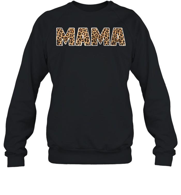 Mama Leopard Word Mothers Day shirt Unisex Sweatshirt