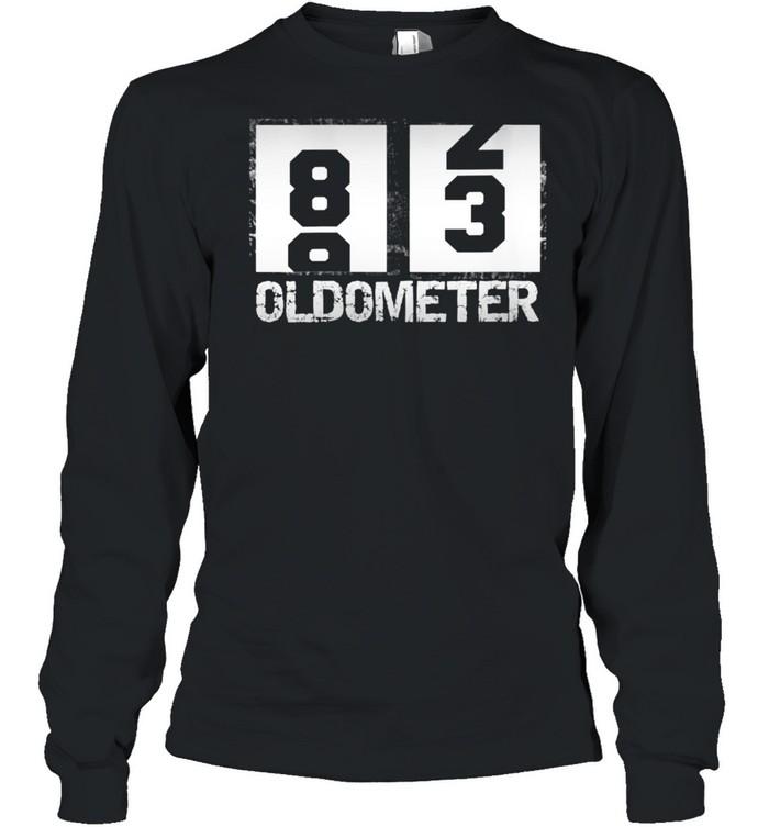Oldometer 8283 83rd Birthday  Long Sleeved T-shirt