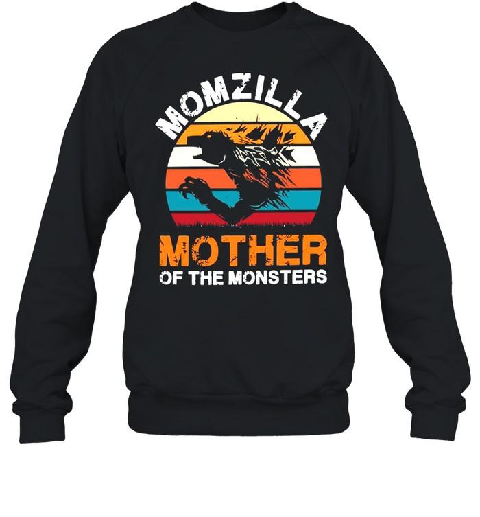 Vintage Momzilla Mother Of The Monsters shirt Unisex Sweatshirt