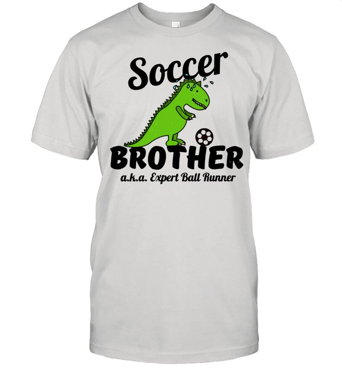Little Brother Soccer Ball Runner Distressed shirt Classic Men's T-shirt