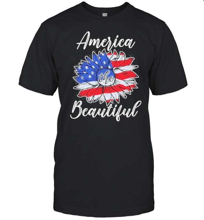 Sunflower america the beautiful flag shirt Classic Men's T-shirt