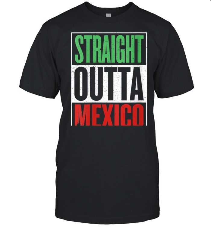 Straight Outta Mexico Cinco de Mayo Fiesta Design shirt Classic Men's T-shirt