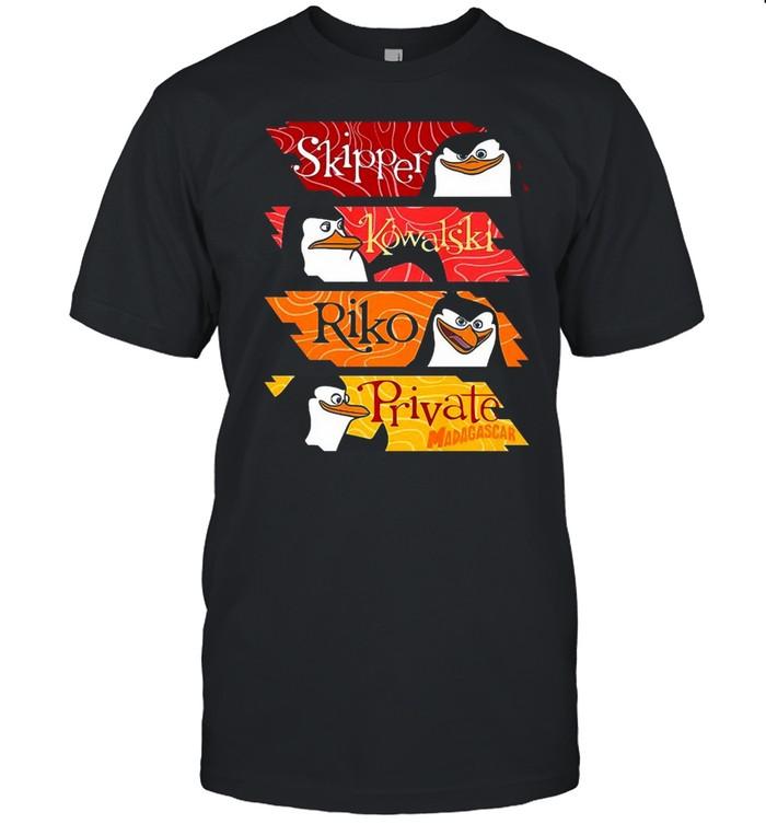 Madagascar Penguins Name Panels T-shirt Classic Men's T-shirt