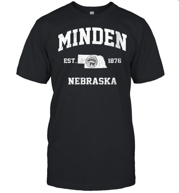 Minden Nebraska NE vintage State Athletic style shirt Classic Men's T-shirt