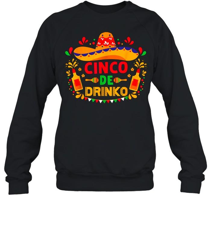 Cinco De Mayo De Drinko Margarita Beer Sombrero Fiesta shirt Unisex Sweatshirt