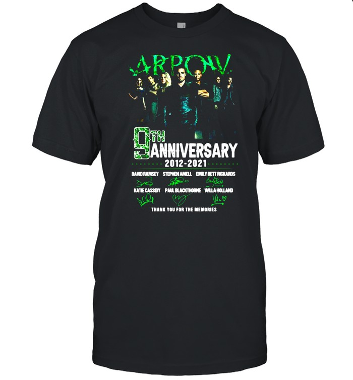 Arpow 9th anniversary 2012 2021 thank you for the memories signatures shirt Classic Men's T-shirt