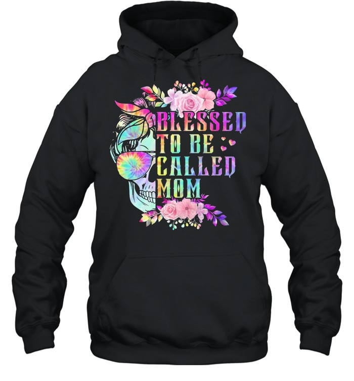 Skull blessed to be called mom shirt Unisex Hoodie